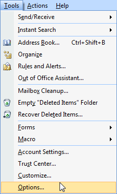 Outlook 2007: Enable Single Key Reading