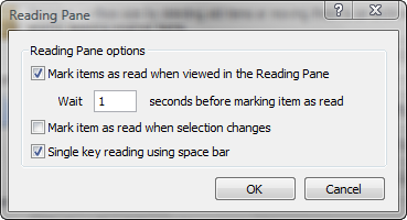 Outlook 2007 Reading Pane
