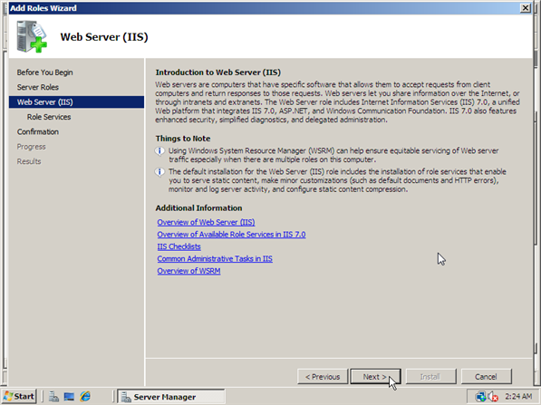 How to Install IIS 7 -