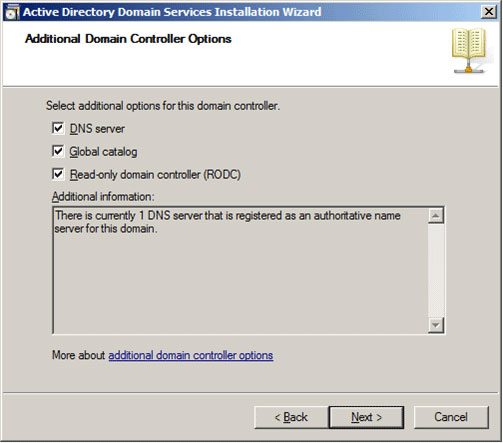 Installing the Read-Only Domain Controller on Windows Server 2008 - 3