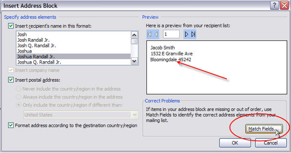 mail merge for dummies creating address labels in word 2007