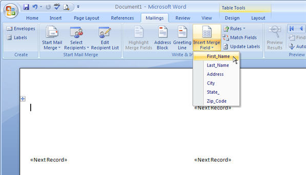Mail Merge for Dummies: Creating Address Labels in Word 2007