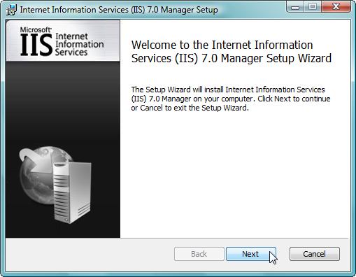 Remote Administration of IIS 7: Install, Configure, Connect - 5