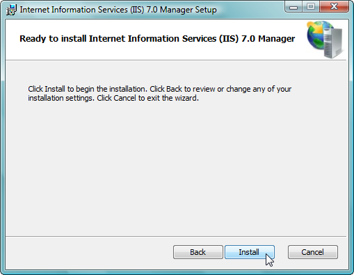 Remote Administration of IIS 7: Install, Configure, Connect - 8