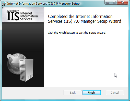 Remote Administration of IIS 7: Install, Configure, Connect - 9