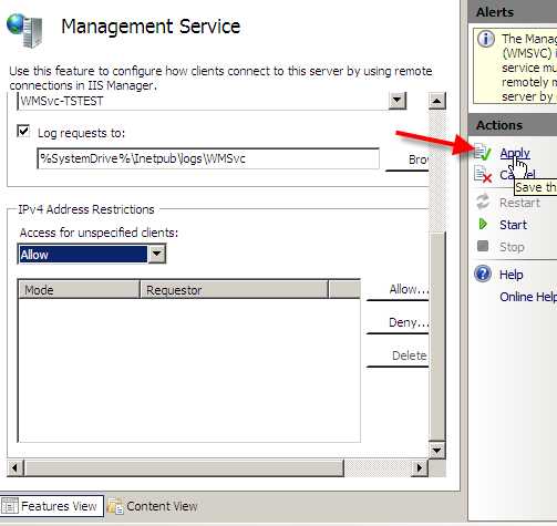 Remote Administration of IIS 7: Install, Configure, Connect - 14