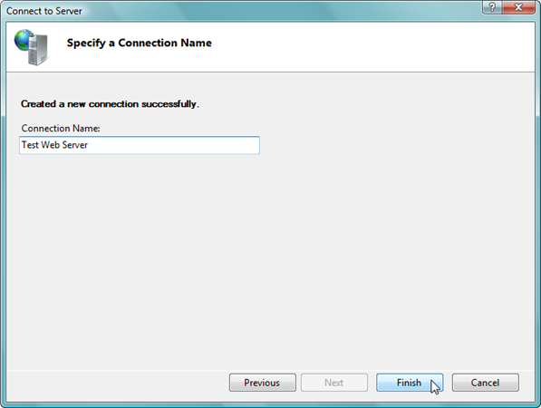 Remote Administration of IIS 7: Install, Configure, Connect - 20