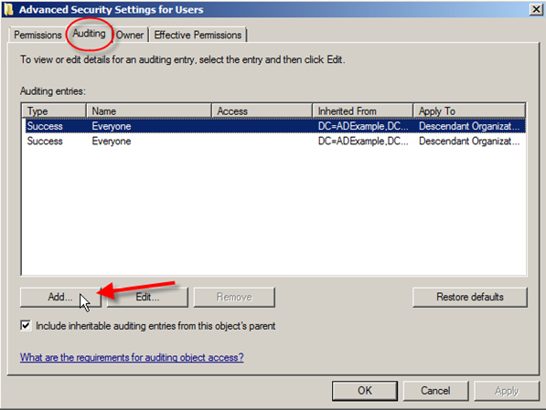 Server 2008: Auditing Active Directory - 14