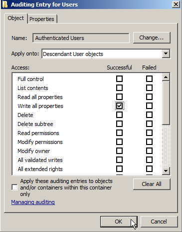 Server 2008: Auditing Active Directory - 16