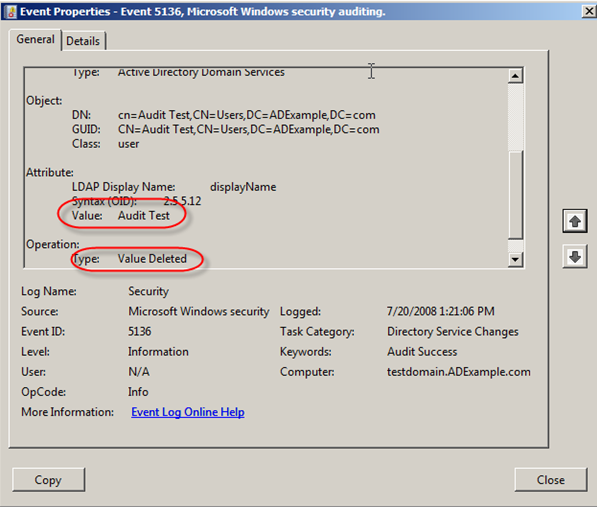 Server 2008: Auditing Active Directory - 17