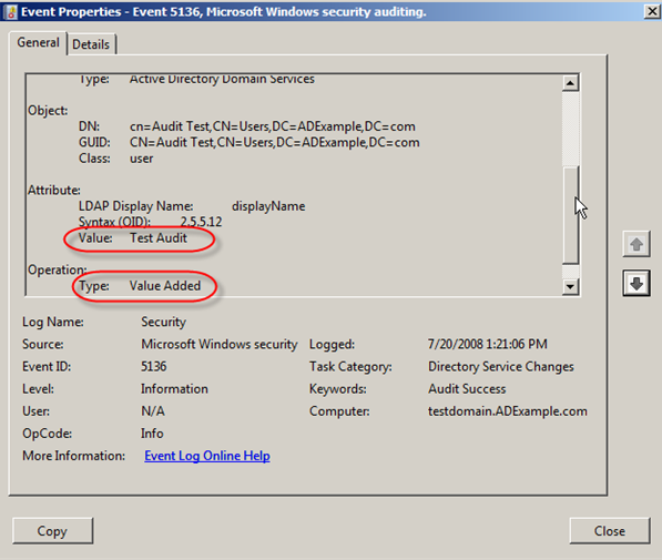 Server 2008: Auditing Active Directory - 18