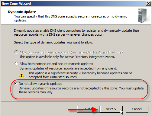 Windows DNS Server 2008: Setup External Internet DNS Server