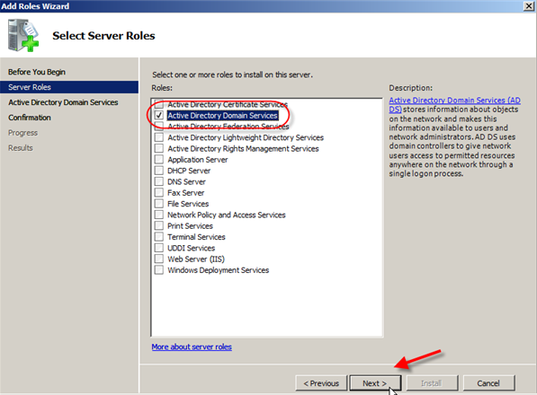 Windows Server 2008: Install Active Directory Domain Services - 3