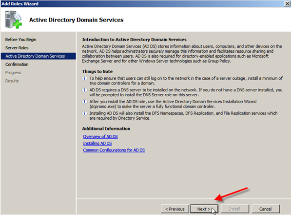 Windows Server 2008: Install Active Directory Domain Services - 4