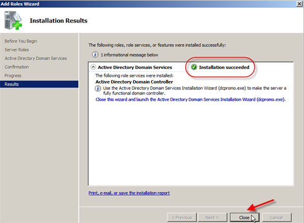 Windows Server 2008: Install Active Directory Domain Services - 6