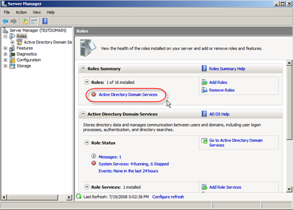 Windows Server 2008: Install Active Directory Domain Services - 7