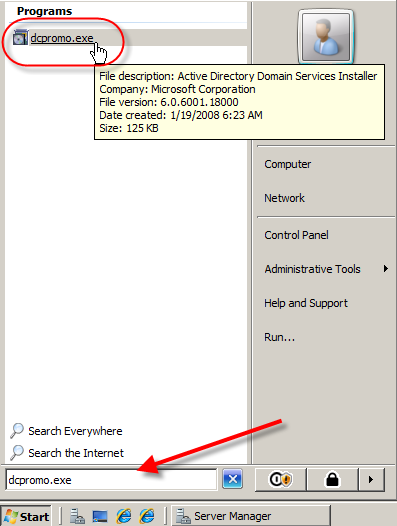 Windows Server 2008: Install Active Directory Domain Services - 8