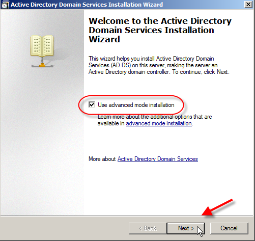 Windows Server 2008: Install Active Directory Domain Services - 9