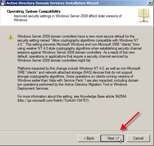 Windows Server 2008: Install Active Directory Domain Services - 10