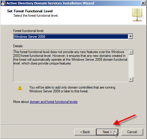 Windows Server 2008: Install Active Directory Domain Services - 14