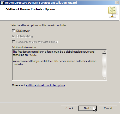 Windows Server 2008: Install Active Directory Domain Services - 15