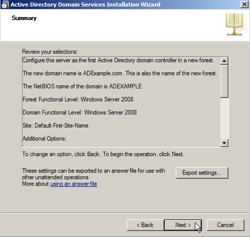 dns installation windows server 2008