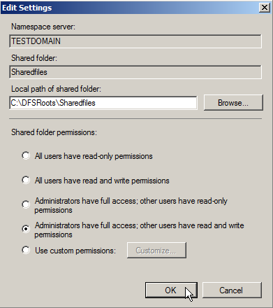 Server 2008: Configuring Distributed File Systems (DFS) - 5