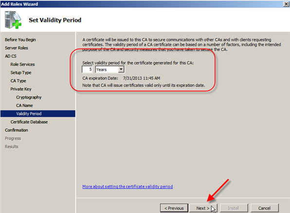 Server 2008: Install Active Directory Certificate Services - 10