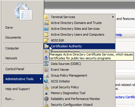 Server 2008: Install Active Directory Certificate Services - 14