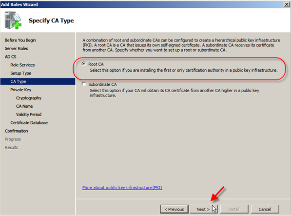 Server 2008: Install Active Directory Certificate Services - 6