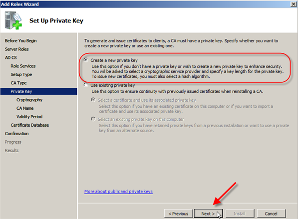 Server 2008: Install Active Directory Certificate Services - 7