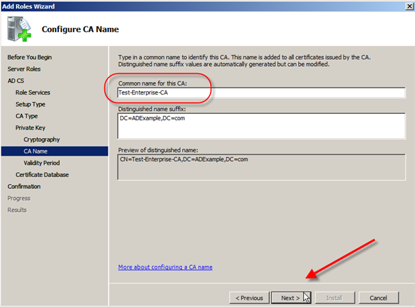 Server 2008: Install Active Directory Certificate Services - 9