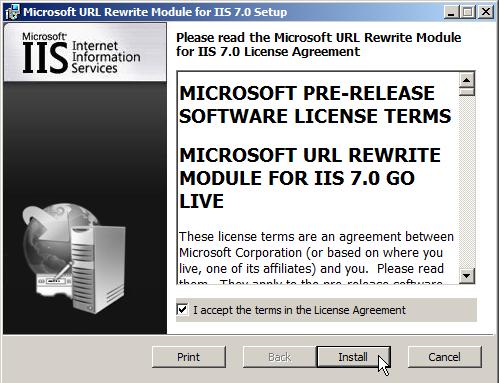 IIS7: URL Rewrite Extension on Windows Server 2008 | Pluralsight