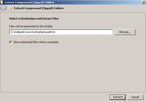 installer php iis 7