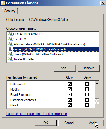 Install BIND DNS on Windows Web Server 2008 – 11
