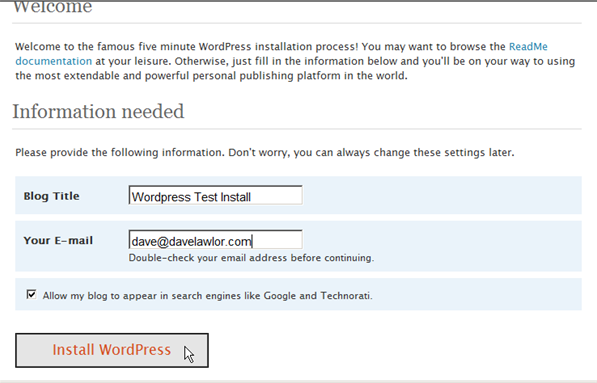 Installing WordPress on IIS 7 - 13