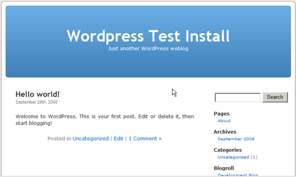 Installing WordPress on IIS 7 - 17