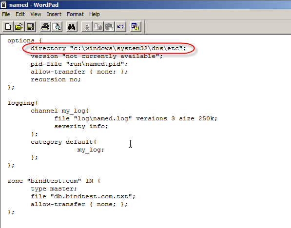 Configure BIND DNS on Windows Web Server 2008 - Part 2