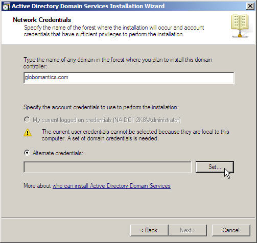 Server 2008 Active Directory: Adding a Child Domain - 11