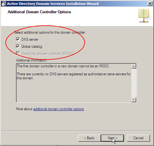Server 2008 Active Directory: Adding a Child Domain - 16