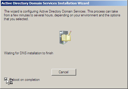 Server 2008 Active Directory: Adding a Child Domain - 20