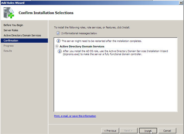 Server 2008 Active Directory: Adding a Child Domain - 5