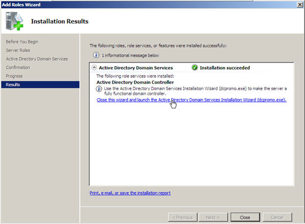 Server 2008 Active Directory: Adding a Child Domain - 7