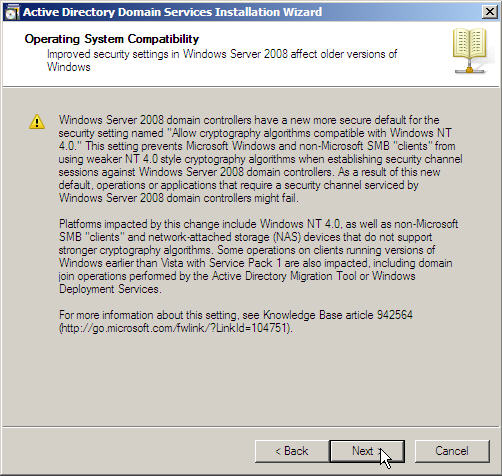 Server 2008 Active Directory: Adding a Child Domain - 9
