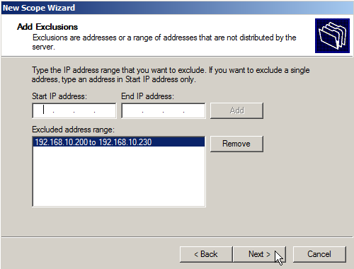 Configure DHCP on Windows Server 2008 - 7