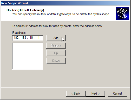 Configure DHCP on Windows Server 2008 - 10
