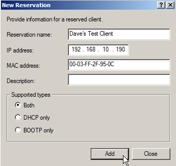Configure DHCP on Windows Server 2008 - 18