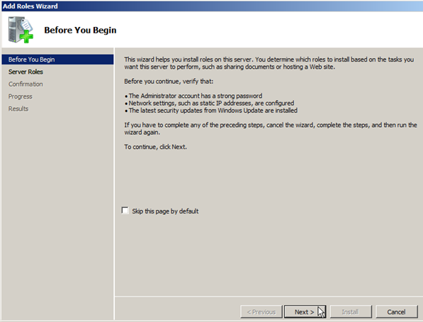 Install DHCP Role on Windows Server 2008 - 2
