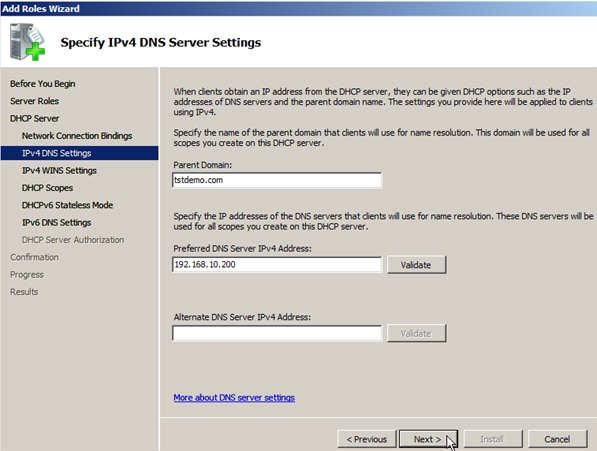 Install DHCP Role on Windows Server 2008 - 6