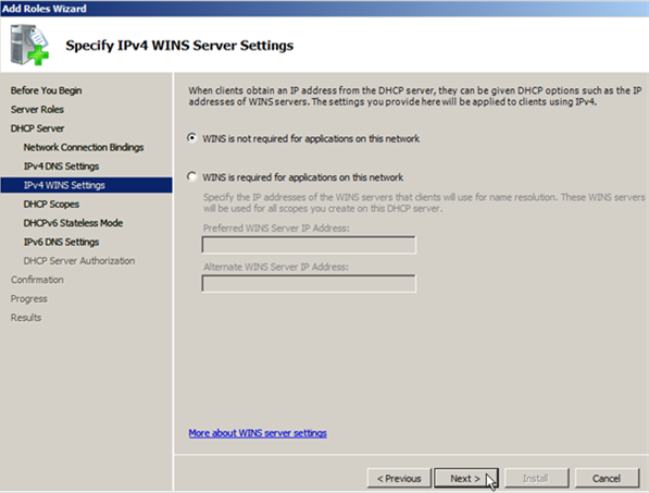 Install DHCP Role on Windows Server 2008 - 7